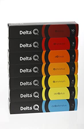 SELECCION DELTA Q BASICO/BLEND - 70 CAPSULAS - QALIDUS-QARACTER-AQTIVUS-QONVICTUS-QONVIVIUM-DELIQATUS-DEQAFEINATUS: Amazon.es: Hogar