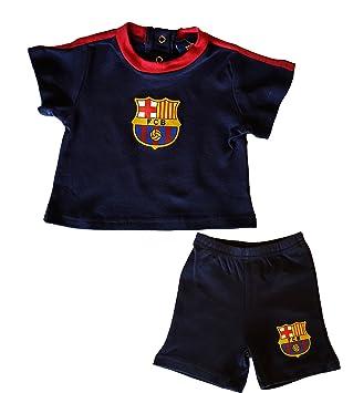 FC Barcelone - Conjunto camiseta + Short Bebé FC Barcelona Azul azul Talla 3  meses  Amazon.es  Deportes y aire libre 501f394708e09