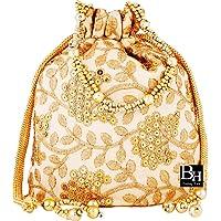 Bombay Haat Ethnic Rajasthani Silk Potli Bag/Bridal Clutch,Purse for Party/Wedding/Wedding Gift