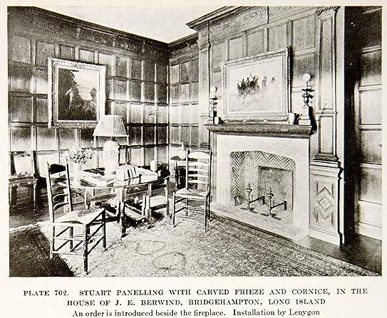 1926 Print Stuart Paneling Frieze Cornice Furniture Interior Design  Decoration   Original Halftone Print