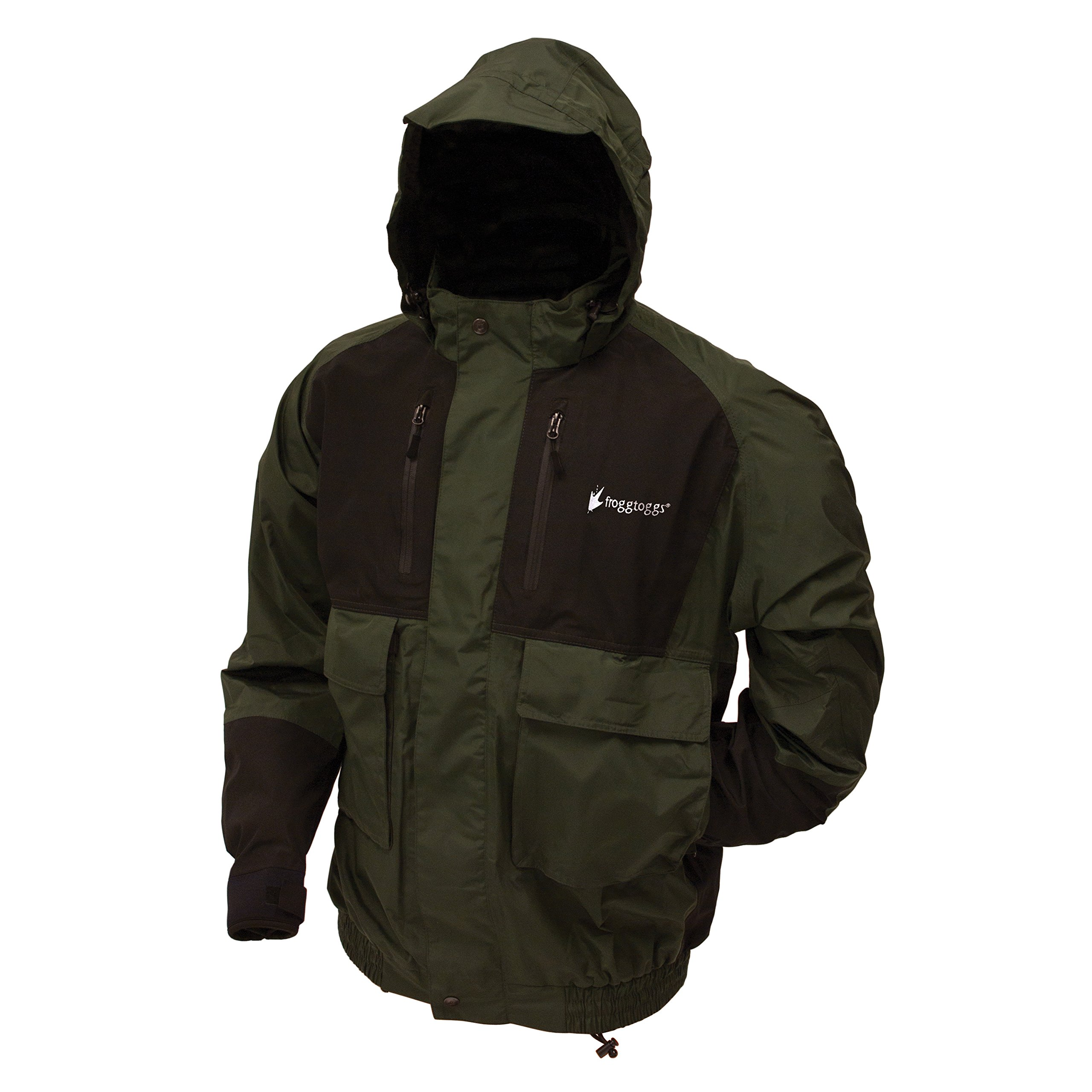 Frogg Toggs Toadz Firebelly Jacket, Green/Black, Size XX-Large