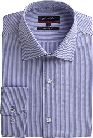 Pierre Cardin - Camisa formal - Rayas - para hombre morado Lilac 15.5: Amazon.es: Ropa y accesorios
