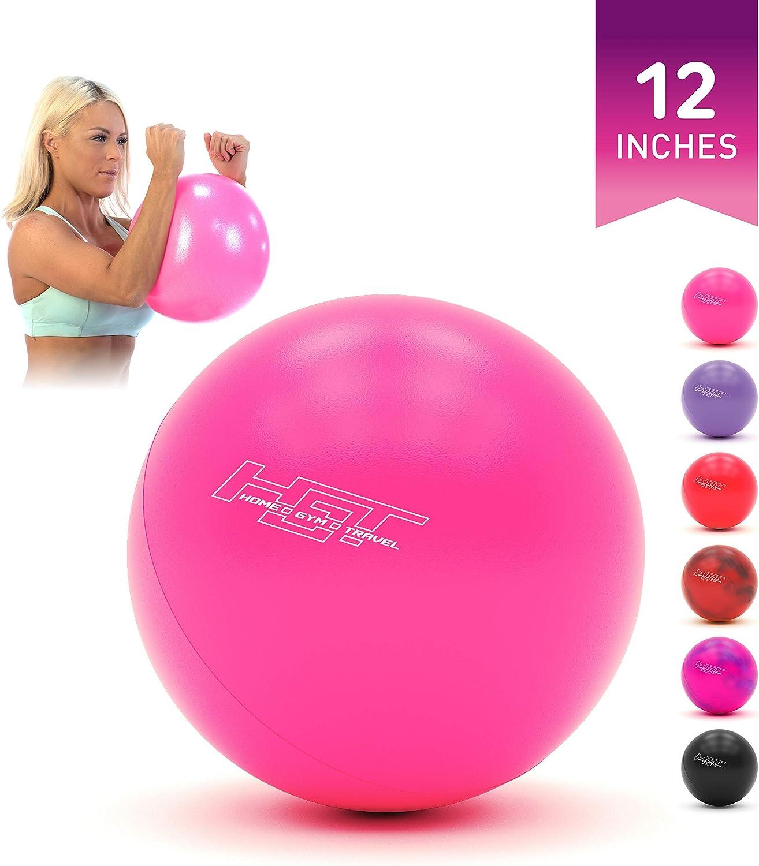 H.G.T Workout Ball - Pilates Ball - Barre Ball - Punching Ball - Mini Exercise Ball - Gym Ball - 12 Inch Exercise Ball - Home Gym Bundle with Ball Exercise - Yoga Exercise Ball Flex Ball -