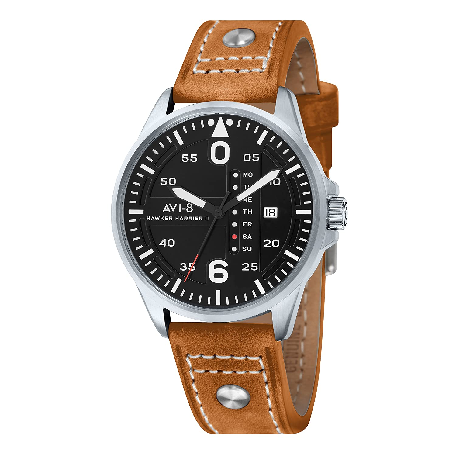 AVI-8 Herren- Armbanduhr Hawker Harrier II Analog Quarz AV-4003-02