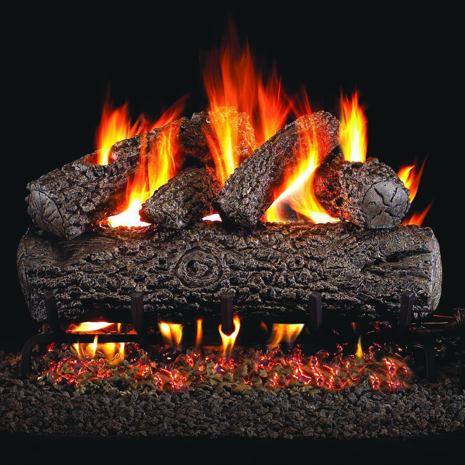 peterson real fyre 24 inch post oak log set with vented natural gas g4 burner match light rh amazon com  peterson ventless fireplace logs