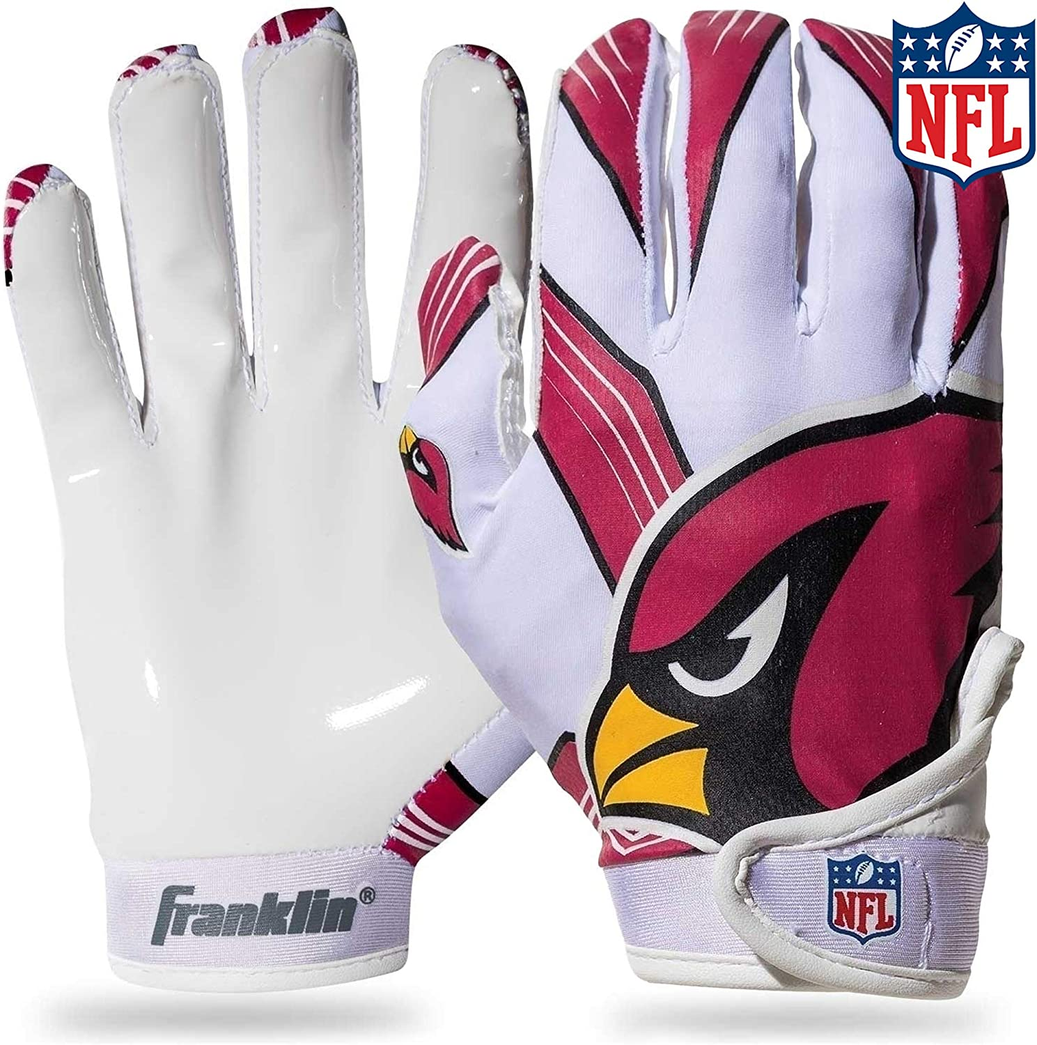 Youth L Assorted Colors Franklin Sports Football Receiver Gloves