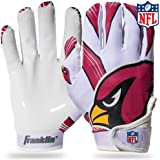 Franklin Sports Youth NFL Football Receiver Gloves - Receiver Gloves For Kids - NFL Team Logos and Silicone Palm - Youth…