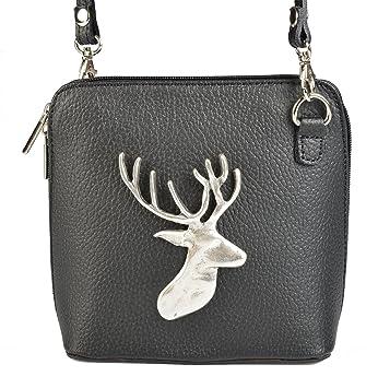 0ad5b91d5a13 Trachten Leder Tasche für Frauen Handtasche Hirsch Umhängetasche Tracht  Dirndltasche Handtasche zur Tracht zum Dirndl zur