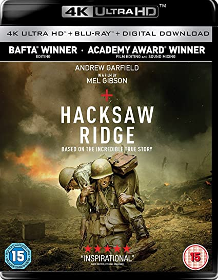 Hacksaw Ridge Imported 4k Uhd Blu Ray Region Free 2017 Amazon In Andrew Garfield Sam Worthington Luke Bracey Teresa Palmer Hugo Weaving Mel Gibson Movies Tv Shows