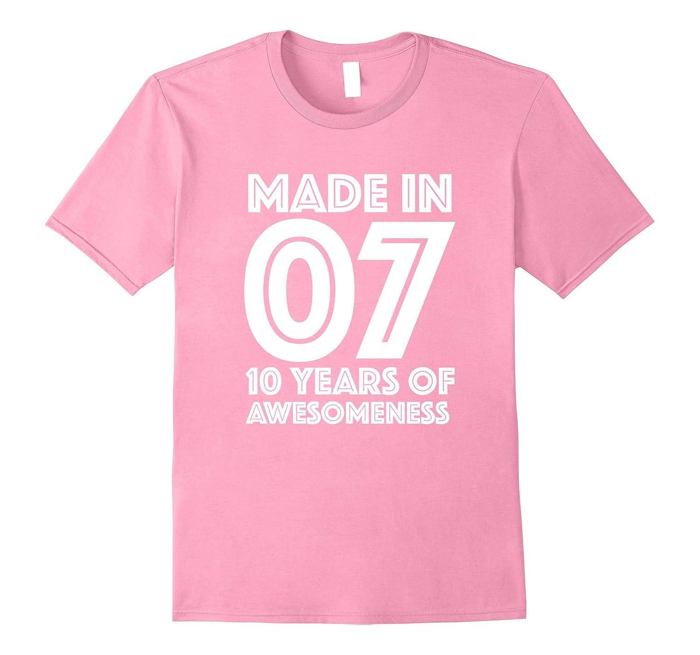 10th Birthday Shirt Gift Age 10 Year Old Boy Girl T BN