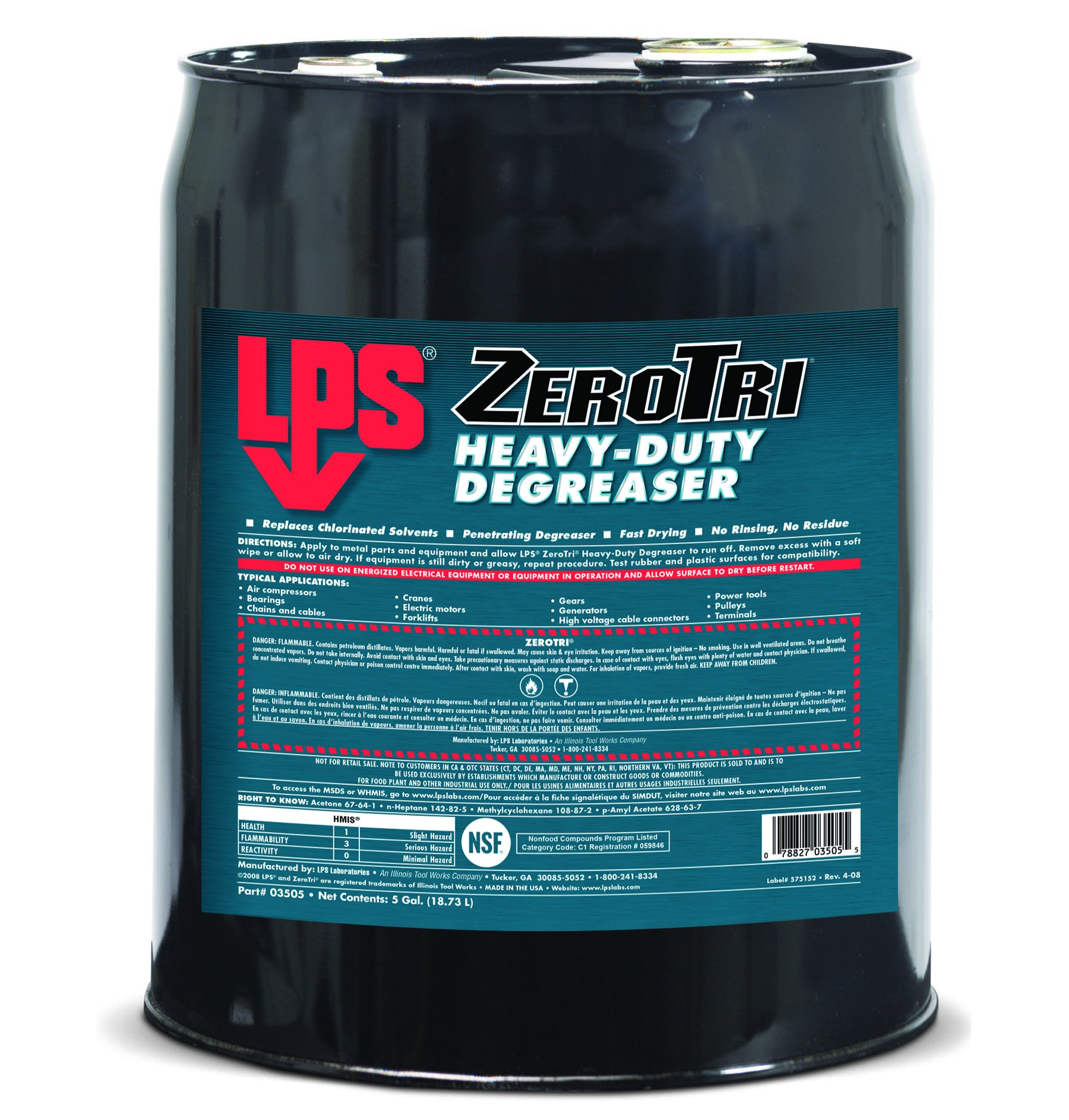 LPS 03505 Zero Tri Heavy-Duty Degreaser, Clear