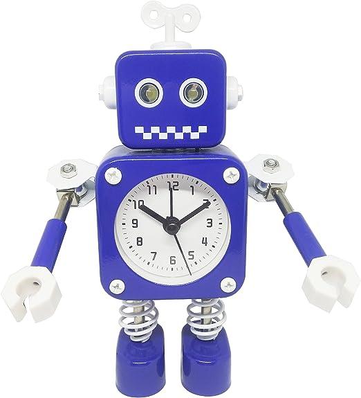 Amazon.com: Funny Metal Robot Time Light Alarm Clock-Home