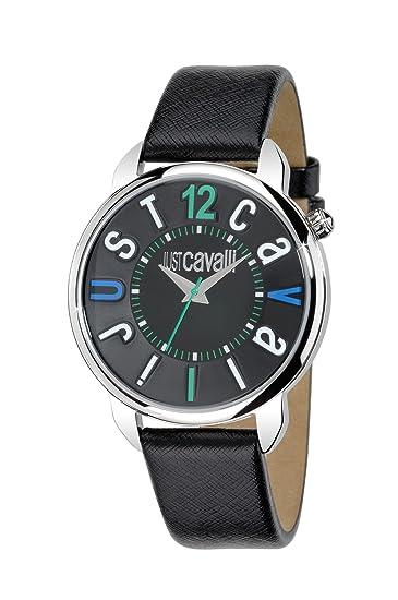 Just Cavalli R7251138525 - Reloj de pulsera analógico para mujer con correa de cuero, color negro: Roberto Cavalli: Amazon.es: Relojes