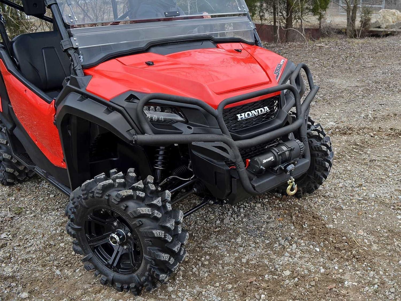 Wrinkle Black 2016+ SuperATV Heavy Duty Front Brush Guard Bumper for Honda Pioneer 1000