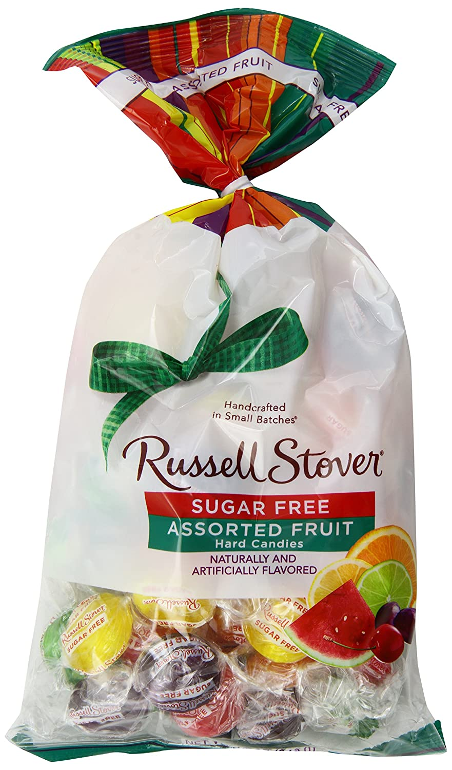 Russell Stover Sugar-Free Hard Candies Assorted Fruit Flavors 12 Ounce Bags (Pack of 3) Sugar-Free Candy, Assorted Hard Candy Bag, Individually Wrapped Sugar-Free Hard Candy Sweetened with Stevia
