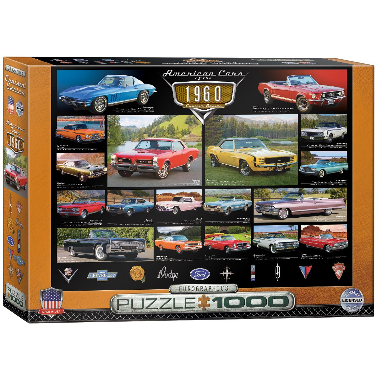 Eurographics 1960s Cruisin Classics Jigsaw Puzzle Wiring Diagram For 1960 Edsel V8 All Models 1000 Piece Toys Games