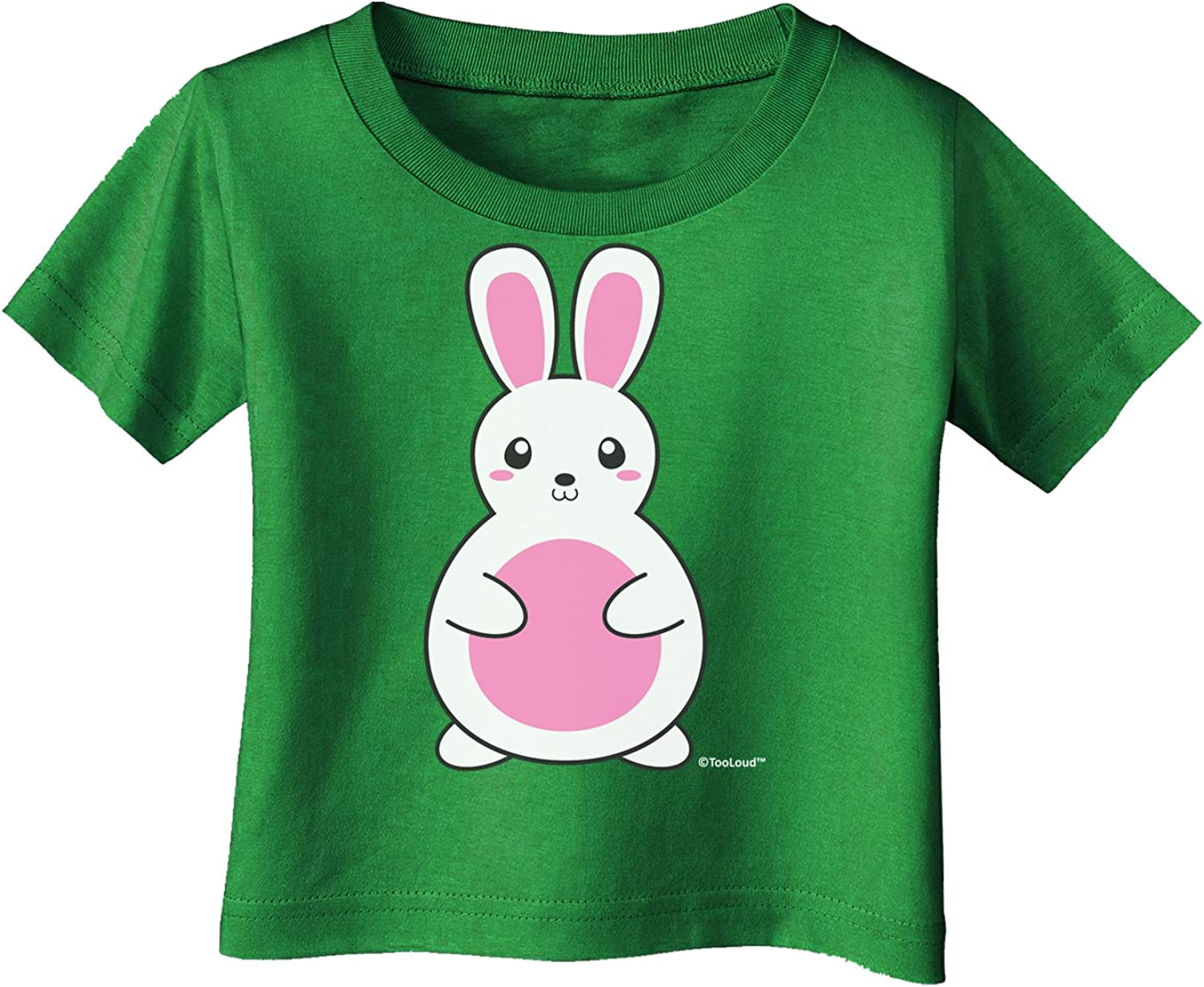 Pink Infant T-Shirt Dark TooLoud Cute Easter Bunny