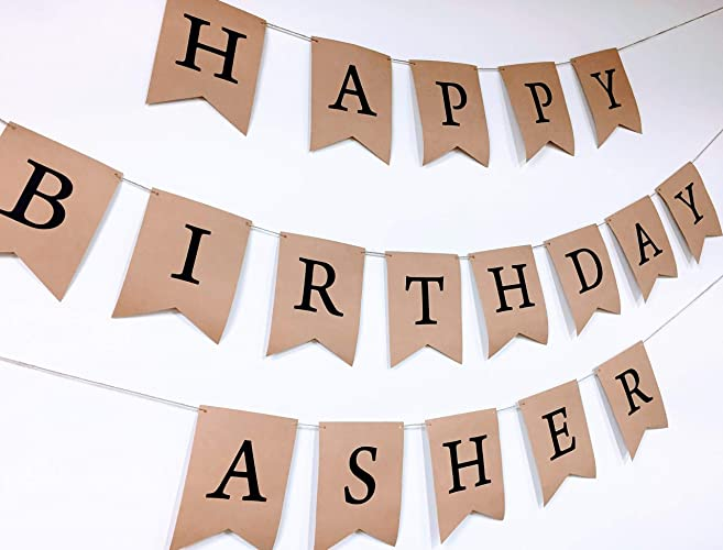 amazon com personalized birthday banner happy birthday banner