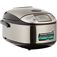 ZOJIRUSHI Rice Cooker, 1.0L (NS-TSQ10) Stainless Steel Brown