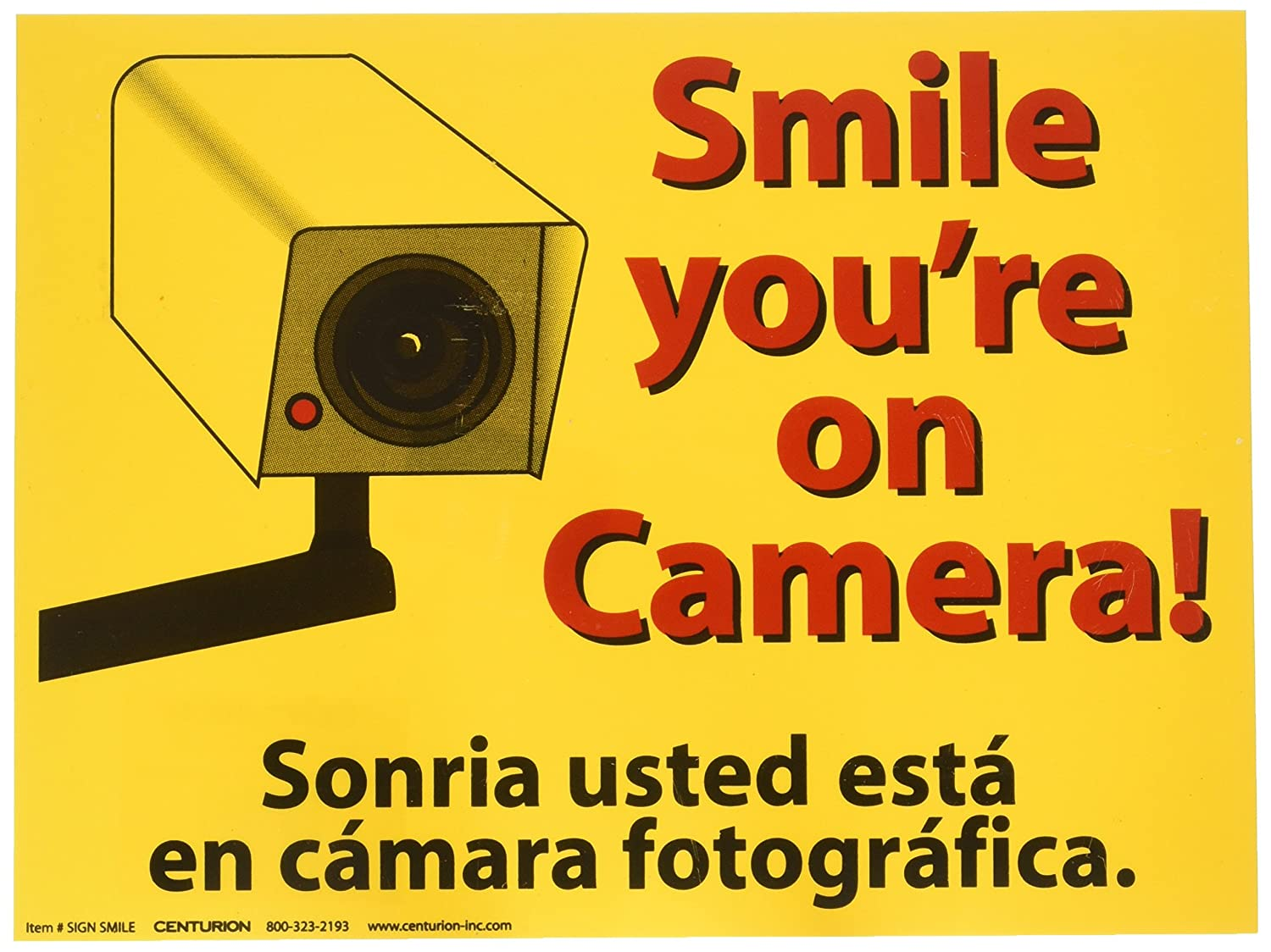 Amazon.com: Smile You\'re on Camera Sign, 9\