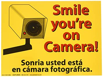Amazoncom Smile Youre On Camera Sign 9 X 12 Home Kitchen