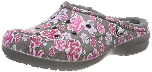 Crocs Freesail Graphic Lined Clog, Mujer Zueco, Multicolor (Floral/Slate Grey), 42-43 EU