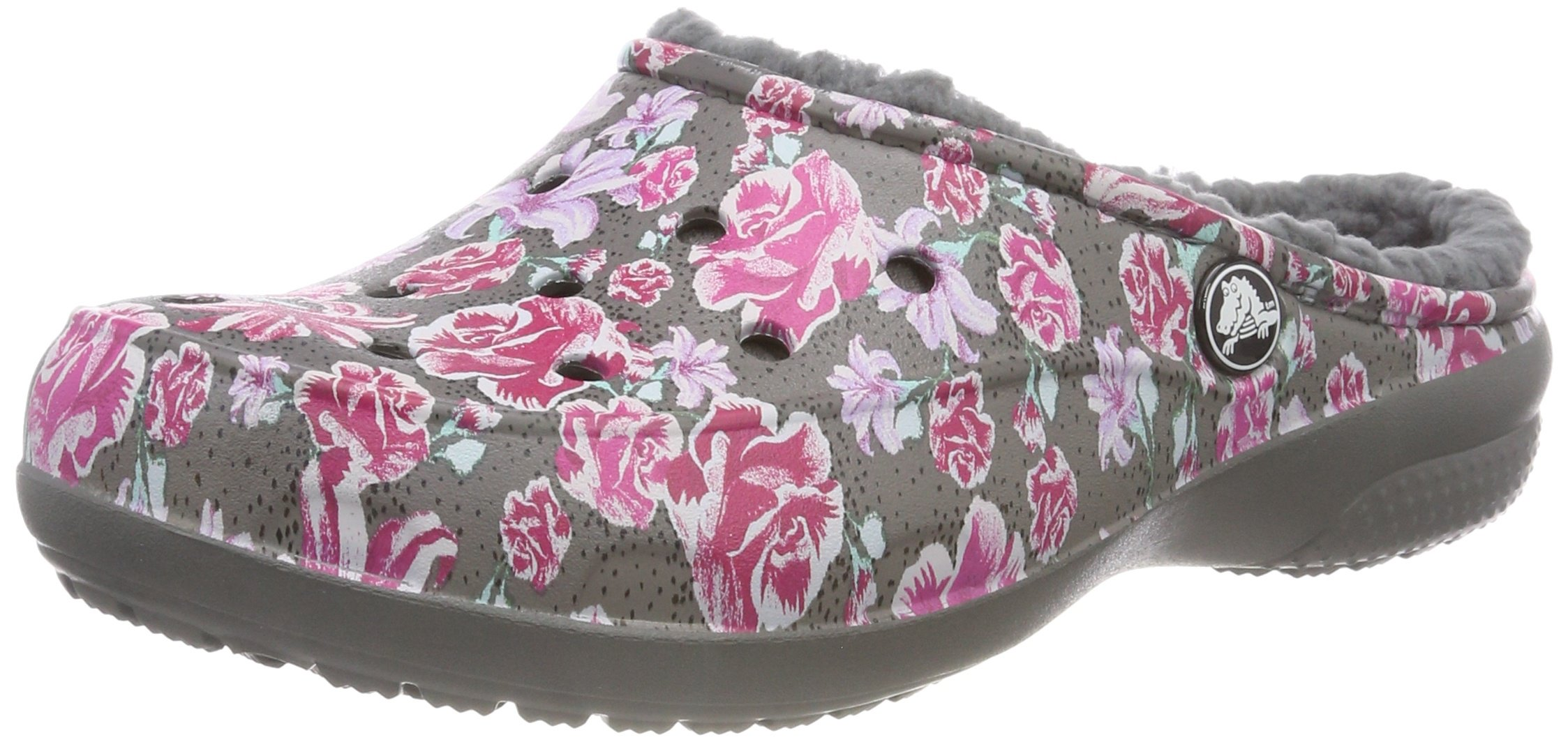 Crocs Women's Freesail Graphic Lined Clog, Multi Floral/Slate Grey, W8 M US