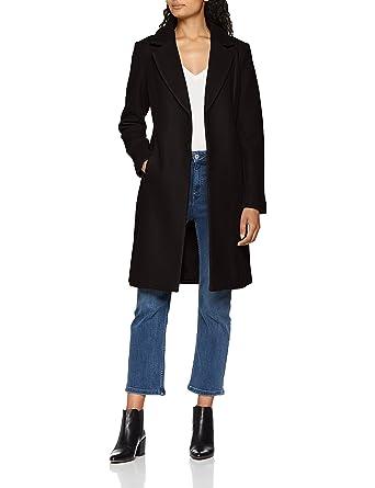Only Onlrachel Wool Coat CC Otw, Abrigo para Mujer, Negro (Black Black)