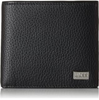 fe0e0917009 Hugo Boss Arezzo 50128297 Mens Black Trifold Leather Coin Wallet ...