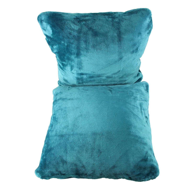Amago Funda de Cojín, Set de 2, Sensación de Cachemira, 50 x 50 cm, Azul Petróleo, 40132-54-A2
