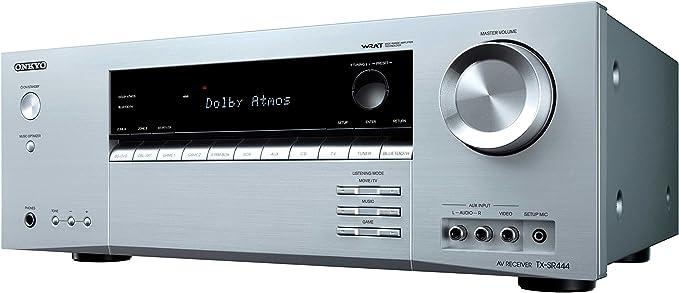 Onkyo TX-SR444-S - Receptor AV de Red (7.1 Canales, Bluetooth, Dolby Atmos) Color Plata: Amazon.es: Electrónica