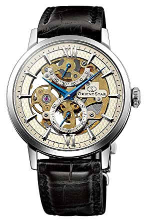 ORIENT STAR Flagship Skeleton Power Reserve Spherical Sapphire Gold Watch DX02002S
