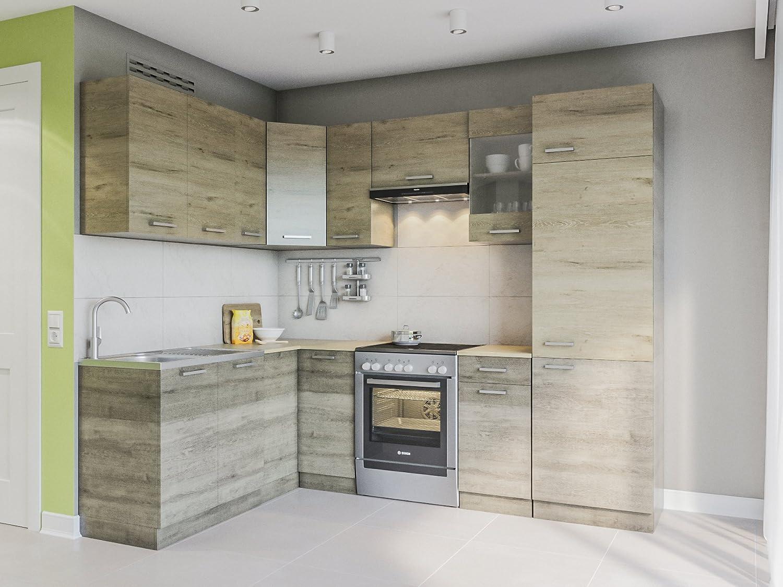Eldorado de ángulo de Muebles Cocina Martha 250 x 170 + Salvaje de Sonoma L Forma de Cocina línea Esquina Cocina Block: Amazon.es: Juguetes y juegos