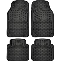 Premium Front /& Rear Car /& Auto Floor Mats Adeco 4-Piece Car Vehicle Universal Carpet Floor Mats Black