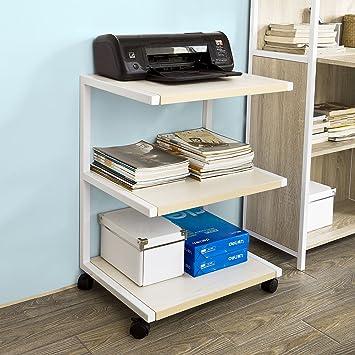 sobuy® drucker-rolltisch mit 3 ablagefächern,druckerständer ... - Rolltisch Küche