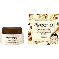 Aveeno Oat Face Mask, Detoxifying Moringa Seed Extract and Vitamin E Antioxidant, 1.7 Ounce
