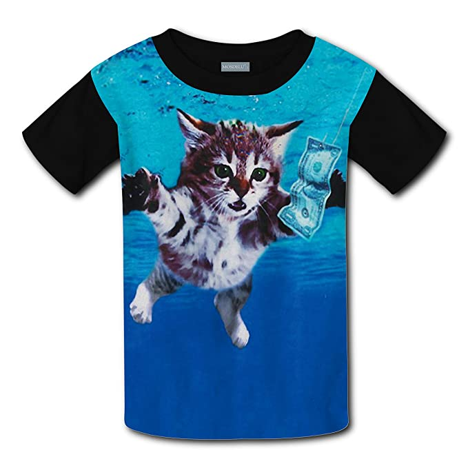 f707834b6 wdwiDEF2287 Funny Cat Cobain Sweat Kids Tee T-Shirt 3D Prints Costume XS