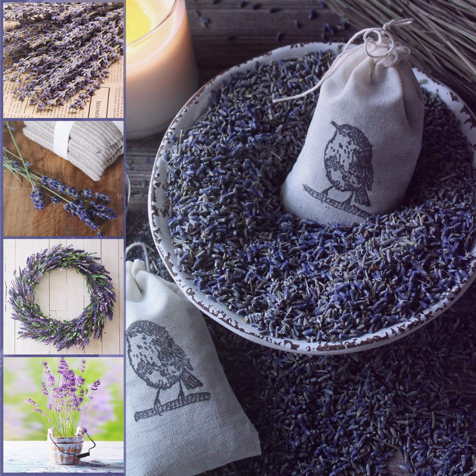 Timoo Dried Lavender Bundles 100% Natural DriedLavenderFlowers for Home Decoration, Photo Props, Home Fragrance, 2 Bundles Pack by Timoo (Image #5)