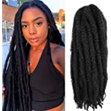 6Packs Marley Hair 24 inch Marley Hair For Twists Long afro kinky Twist Marley braiding hair Extension Synthetic Fiber Marley