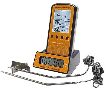 Termómetro inalámbrico para barbacoa y carne, sonda doble genround para barbacoa, cocinar al aire