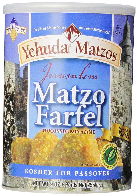 Yehuda Matzo Cannister, Farfel, 9-Ounce (Pack of 6) 00210262_ob