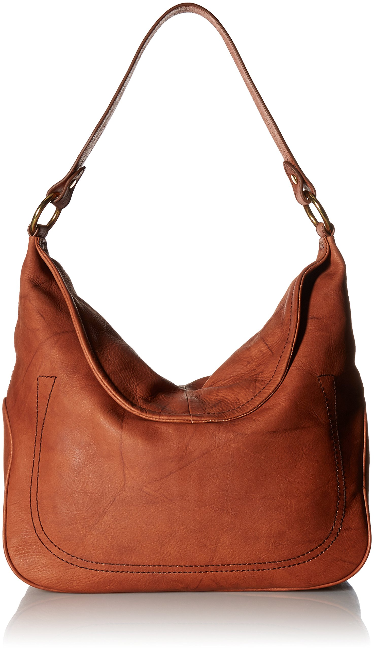 FRYE Campus Large Rivet Hobo, Saddle