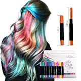 Hair Chalk for Girls With Dark Hair, 10 Colorful