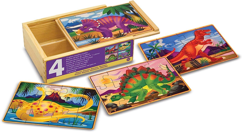 Melissa & Doug- Dinosaur Dinosaurios Juego Jigsaw Puzzle, Multicolor (13791) , color/modelo surtido