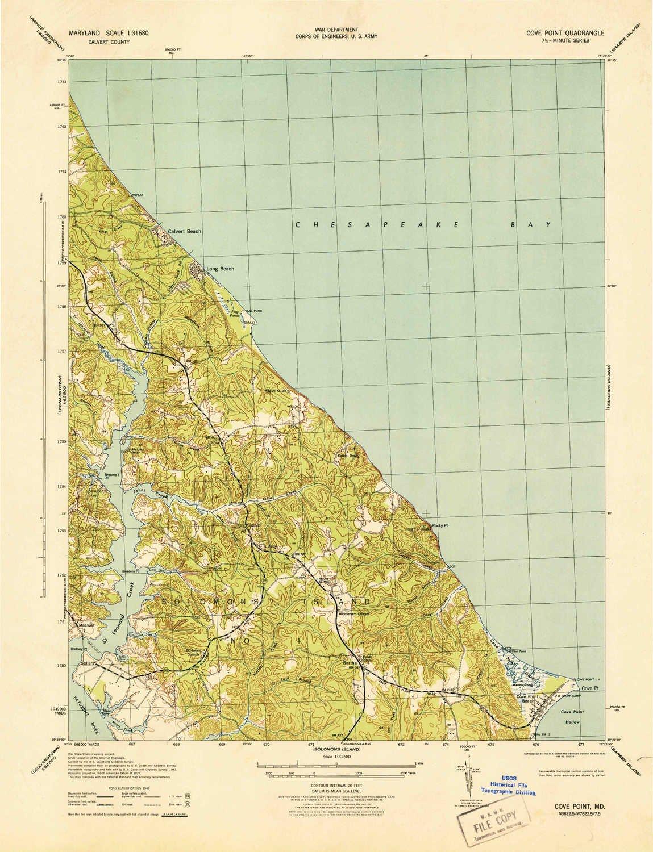 Amazon.com : YellowMaps Cove Point MD topo map, 1:31680 Scale, 7.5 X ...
