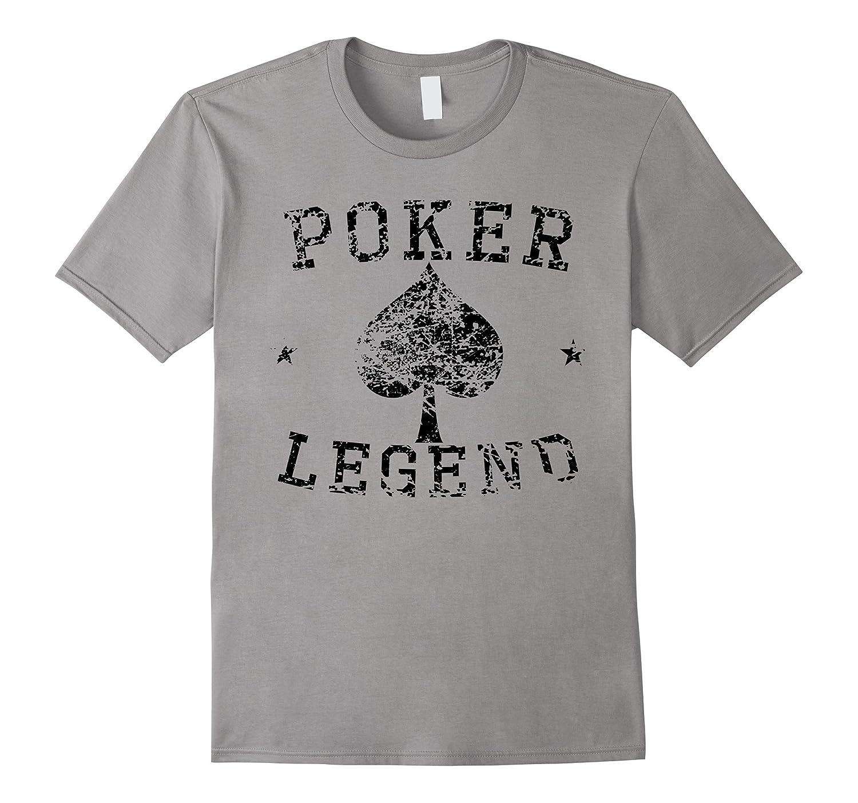 Vintage Poker Legend Spades Distressed T-Shirt-CL