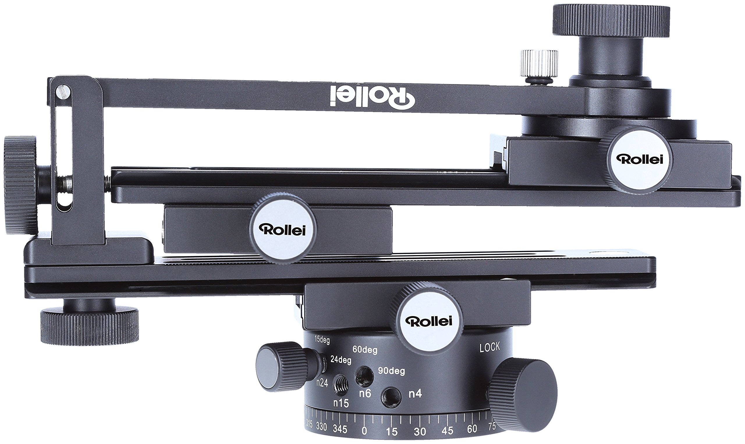 Rollei Panoramic Head 200 Mark II - Tripod Head for Multi Row Panoramic Photos, Max. Load of 3 kg and ARCA Swiss Compatible - Black