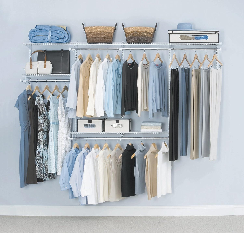 Amazon.com: Rubbermaid Configurations Closet Kits, 4 8 Ft., White  (FG3G5902WHT): Home U0026 Kitchen