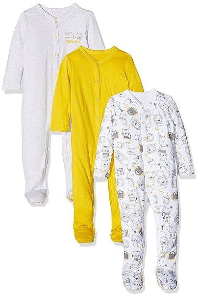 Mothercare Boys Wild One, Pelele para Dormir para Bebés, Amarillo (Mustard 74)