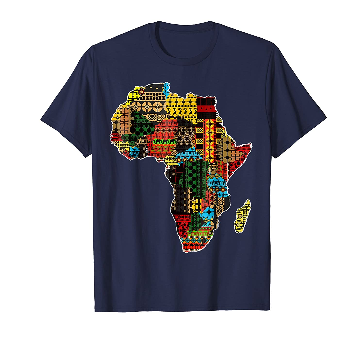 African pride traditional ethnic pattern Africa map t shirt-Teesml